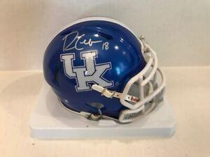 Randall Cobb Signed Kentucky Blue Speed Mini Helmet UK COA Holo Houston Texans