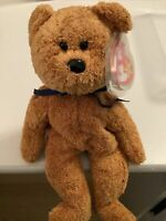 Ty Original Fuzz Bear Beanie Baby W/tag Error DOB July 23, 1998 Tush Tag 1999