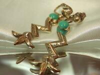 Vintage 1970's Dangly Silver Tone Lucite FAB Showy Retro Clip On Earrings 625JN9