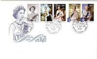 2015 FDC Australia. Long May She Reign Queen Elizabeth. Various FDI postmarks
