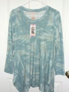 NWT PHILOSOPHY GEOMETRIC DESIGN LIGHT BLUE SHIRT  SIZE SMALL