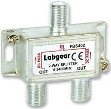 LABGEAR FBS402 Splitter 2-Way Power Pass Pack of: 1
