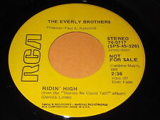 The Everly Brothers: Ridin' High (Stereo / Mono) 45