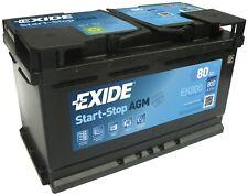Exide EK800 AGM Autobatterie 12V 80Ah 800A EN Start Stop