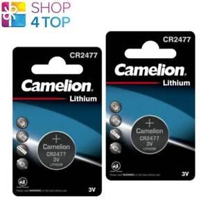 2 CAMELION CR2477 BATTERIES LITHIUM 3V COIN CELL DL2477 ECR2477 1BL EXP 2028 NEW