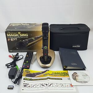Magic Sing Karaoke Diamond ET19KV With 2 Wireless Microphone & Carry Case