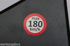Geschwindigkeitsaufkleber 180 Km/h Warnhinweis M+S  Aufkleber Signalanlage