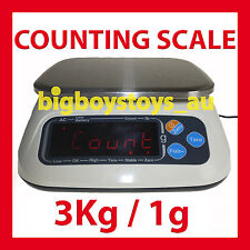 PIECE COUNTING SCALES 3KG / 1G - HIGH PRECISION - INTERNAL BATTERY