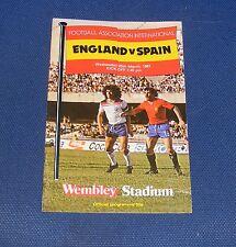England  -v- Spain  1980-1981
