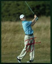 Original 8x10 Autograph of PGA Golfer Zach Johnson,Has won 2 Major Championships