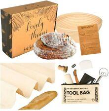 "New listing Bread Proofing Basket Set - This Sourdough Bakers' Starter Kit 9"" Round Banneton"