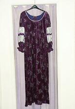 Women's stile impero medievale TUDOR Floreale Costume UK 14-16 Viola