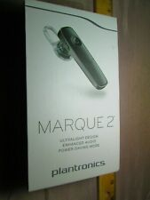 New Black Plantronics Marque 2 M165 Bluetooth Headset NIB With AC Charger