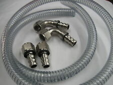 12AN Vacuum Pump Hose & Nickle Plated Fitting Kit, with No Weld Baffle