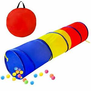 TUNNEL TOY Pop Up Crawl Through Baby Toddlers Backyard Playset Colorful GEERWEST