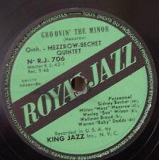MEZZROW-BECHET QUINTET GROOVIN' THE MINOR SHELLAC 78rpm 1946 ROYAL JAZZ R.J. 706