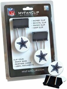 NFL MyFanClip Multipurpose Clips School Paper Chip Bag Money Clips (Pack of 2)