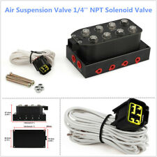 Air Suspension 1/4'' NPT Solenoid Valve Manifold Air Bag Ride Suspension System