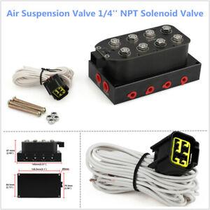 Air Suspension 1/4'' NPT Solenoid Valve Manifold Air Bag Ride Suspension System