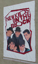 "NEW KIDS ON THE BLOCK 1989 Fabric Poster Tapestry Flag 30""x36"" Official Big Step"
