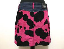 GFF GIANFRANCO FERRE Gonna Donna Cotone Rayon Cotton Woman Mini Skirt Sz.M - 44