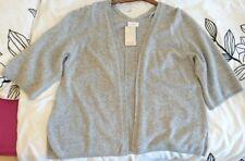 Monsoon Lris Cashmere Cardigan Grey Bnwt Size Extra Large XL