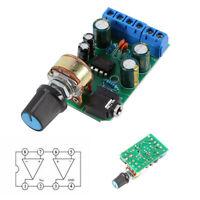 TDA2822M Carte d'amplificateur de puissance Stéréo 2 canaux Audio AUX 3.5 mm