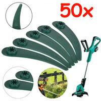 50Stk für Bosch Rasentrimmer ART23-18LI Durablade Ersatzmesser Kunststoffmesser