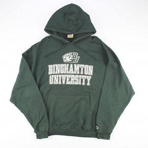 CHAMPION BINGHAMTON UNIVERSITY Green College Pullover Hoodie Mens 3XL