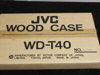 JVC Vintage Wood Case WD-T40 New In Box made in Japan
