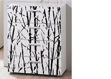 IKEA Malm drawer bamboo trunk vinyl decal for front of 4 drawer unit Stickers