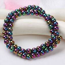 6mm Colorful Magnetic Hematite Round Loose Beads Strand Fit Bracelet Necklace US