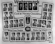1957 - 58 Montreal Canadiens Team Picture Stanley Cup Champions 8 X 10 Photo
