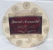 "Sakura Merlot Plate 8-1/4"" Wine Bar Angela Staehling Private Reserve Sonoma CA"