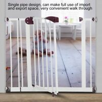 Extra Tall Walk Thru Safety Gate Baby Indoor Security Metal Fire Gate Pet Dog US