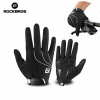 RockBros Cycling Long Full Finger Winter Warm Sporting Gloves Black