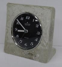 vintage 70s - Edle Agrylglas Tischuhr Junghans ATO-MAT Blockglas Optik Uhr 70er