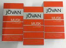 3 X 118ML JOVAN MUSK FOR MEN AFTERSHAVE