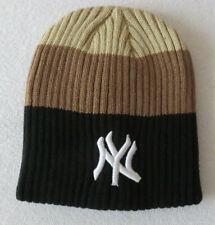 NY New York Yankees -Strickmütze Beanie Hat Cap Mütze Wintermütze -schwarz braun