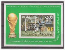 0188 Sao Tome 1978 soccer overprint Argentina Holland Brazil S/S MNH imperf