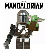 ORIGINAL STAR WARS The Mandalorian +BABY YODA CUSTOM LEGOs Minifigure