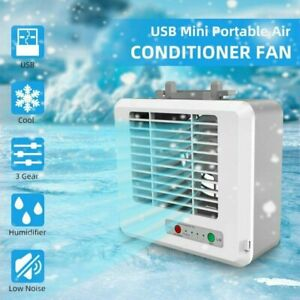 USB Portable Mini Air Conditioner Air Cooler Air Cooling Fan For Office Home Use