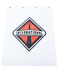 """International Trucks 24"""" x 30"""" White Poly Semi Truck Mud Flaps-Pair"""