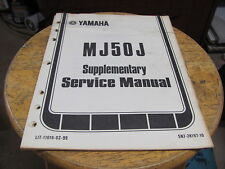 Yamaha MJ50J Supplementary Service Manual 1981 13 pgs