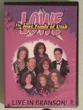 the lowe family of utah LIVE IN BRANSON !   DVD NEW