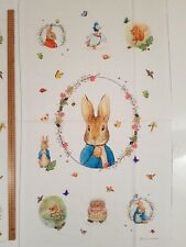 100% COTTON PRINT FABRIC - BEATRIX POTTER - PETER RABBIT QUILT PANEL - 22 X 44""