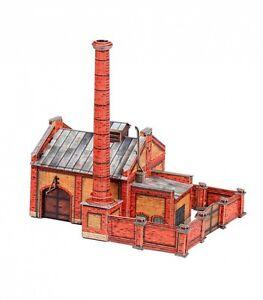 Boiler building ussr- russia scale 1/87 cardboard model kit railroad building