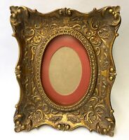 Vintage Gold Wood Picture Frame Ornate Antique Louis XV Style Easel Wall Hanging