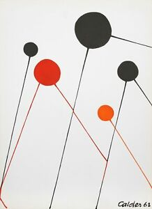 Alexander Calder, Balloons, Lithograph, signed in the plate