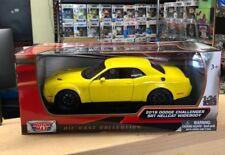 2018 Dodge Challenger SRT Hellcat Widebody Yellow 1/24 Diecast Motor Max 79350